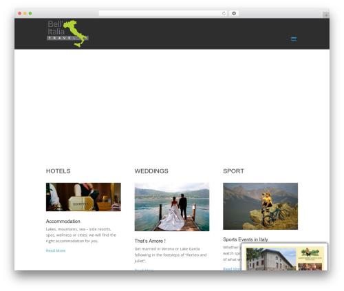Divi WordPress travel theme - bellitalia-travel.com