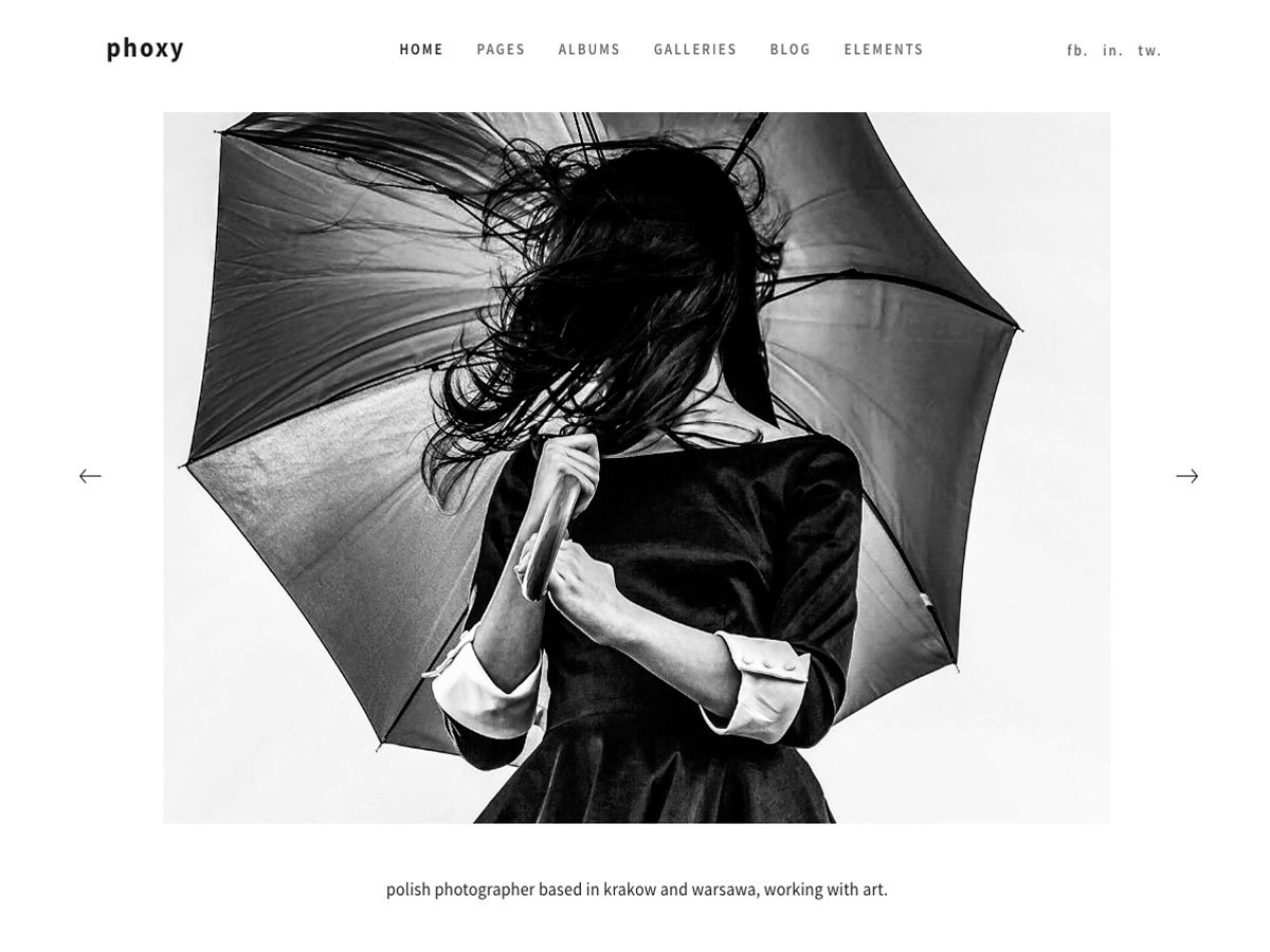 Phoxy top WordPress theme