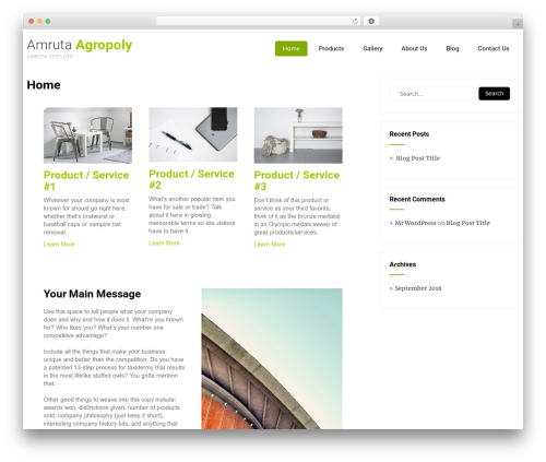 Eco Friendly Lite best WordPress theme - amrutaagropoly.com
