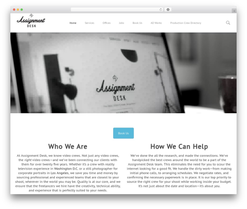 filmic template WordPress - assignmentdesk.com