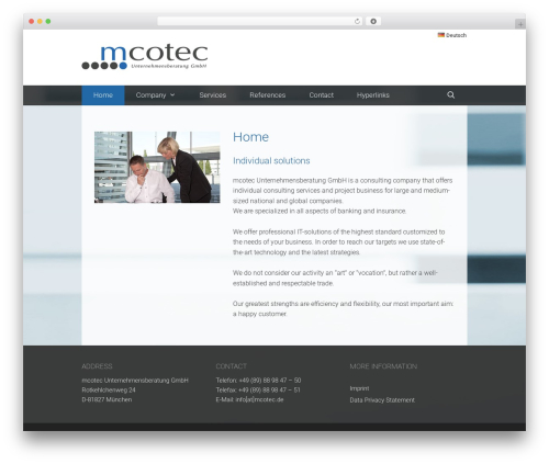 GeneratePress top WordPress theme - mcotec.de
