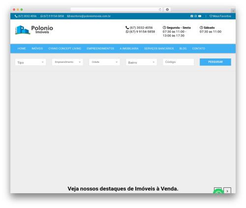 Vista Floripa premium WordPress theme - polonioimoveis.com.br