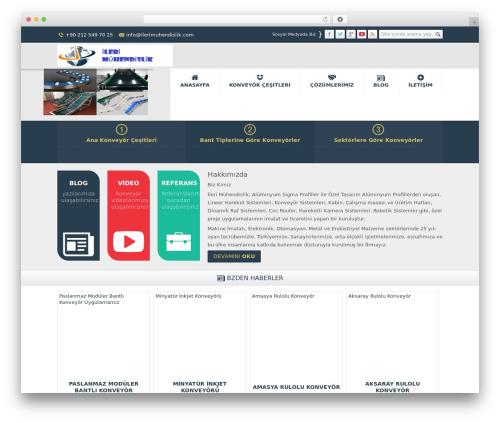 Safir Kurumsal WordPress website template - konveyorfiyati.com