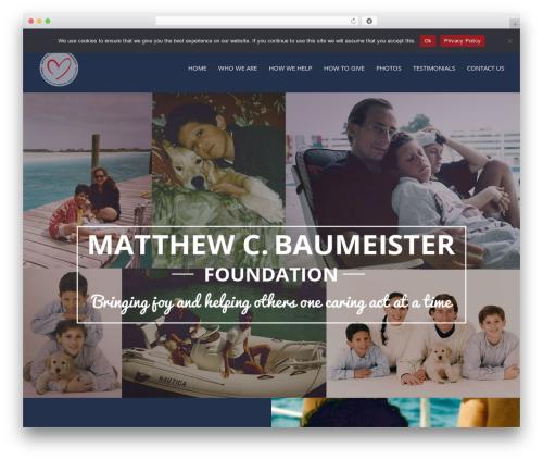 Selfie best free WordPress theme - matthewcbaumeisterfoundation.org