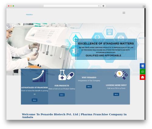 Betheme WordPress template for business - penardobiotech.com