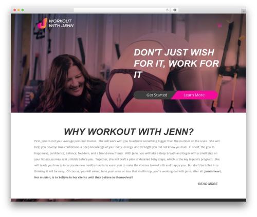 Divi template WordPress - workoutwithjenn.com