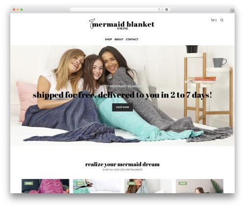 Shopkeeper | Shared By Themes24x7.com WordPress shopping theme - mermaidblanketonline.com