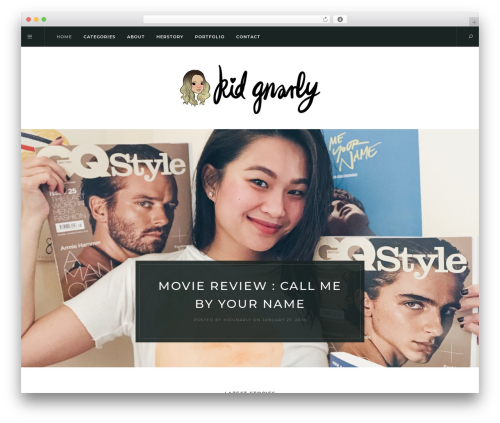 Solien top WordPress theme - kidgnarly.me