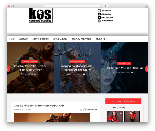 Unique Blog WordPress portfolio theme - kesvonpuch.com