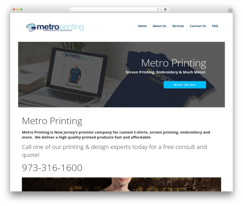 Ascension business WordPress theme - metroprintingusa.com