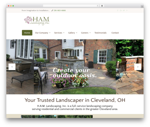 Betheme best WordPress theme - hamlandscaping.com