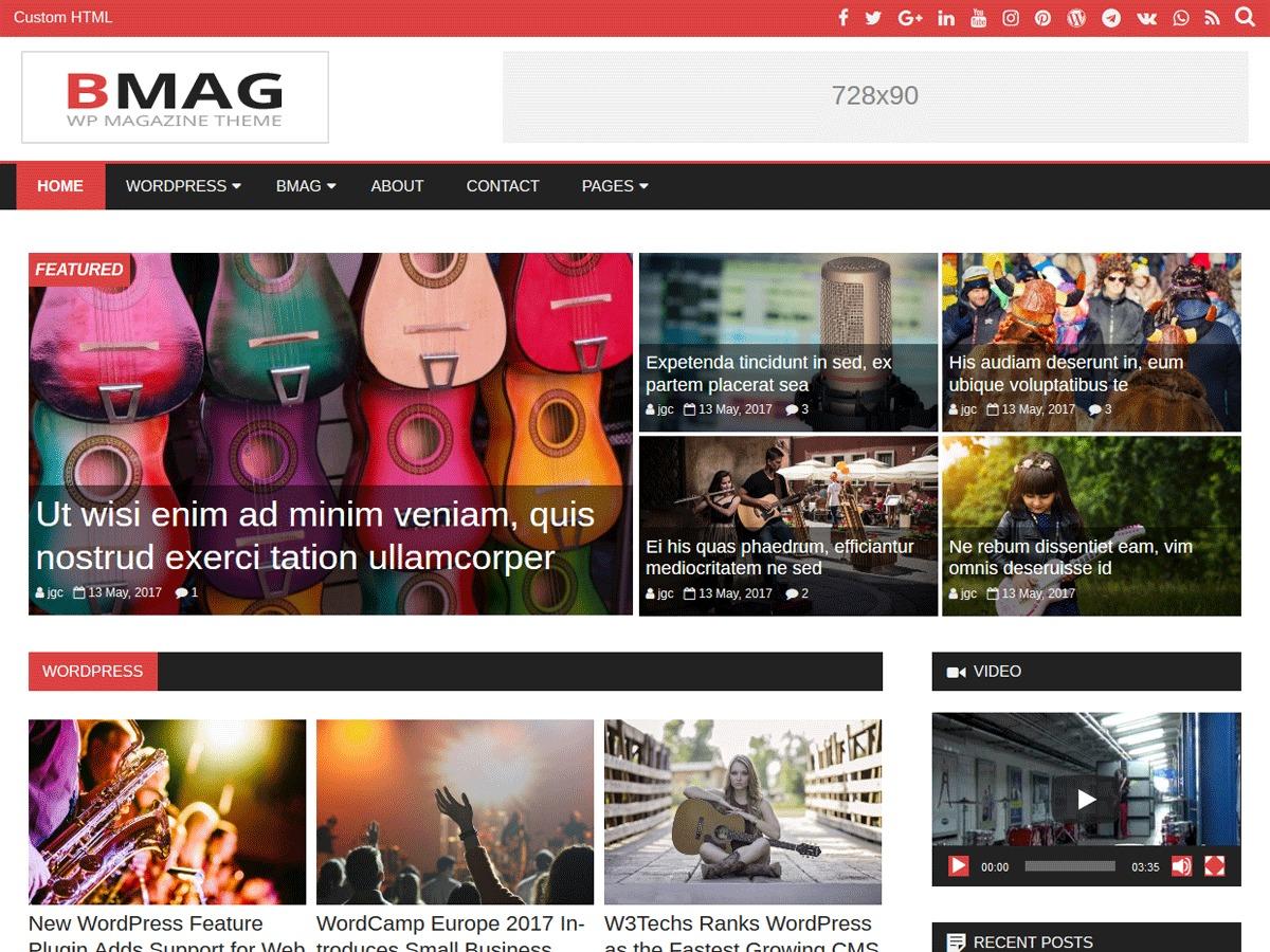 BMag WordPress blog theme