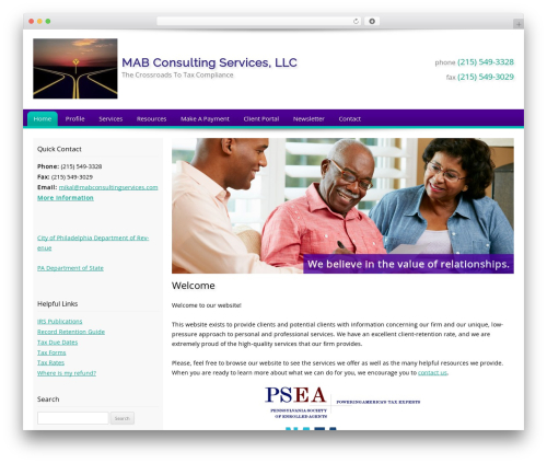 Customized theme WordPress - mabconsultingservices.com