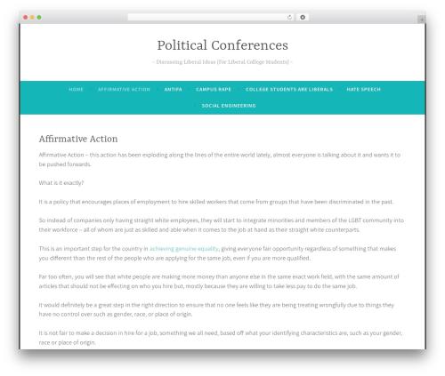 Dara best free WordPress theme - politicalconferences.org