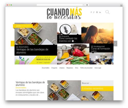 Magazine best WordPress magazine theme - cuandomaslonecesitas.es
