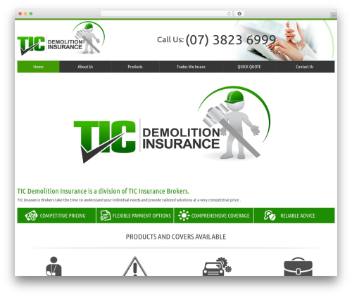 WordPress template tic - demolitioninsurance.com.au