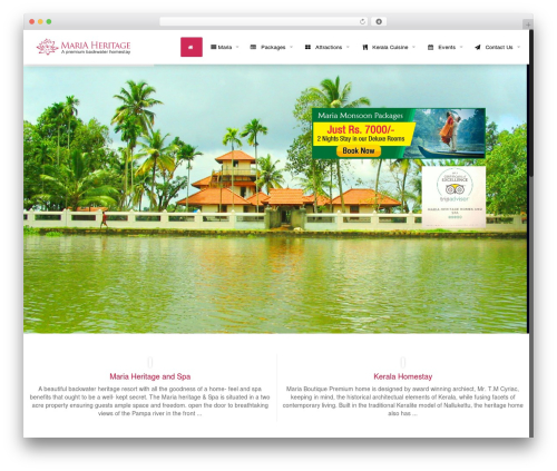 WordPress theme Betheme - mariaheritage.com