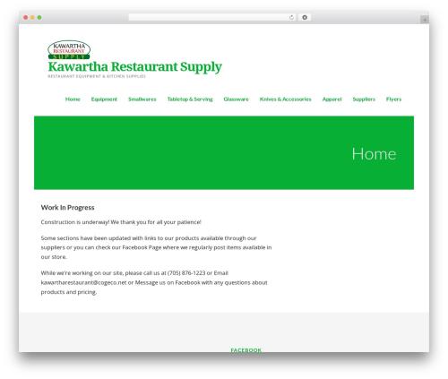 Ascension WordPress restaurant theme - kawartharestaurantsupply.ca