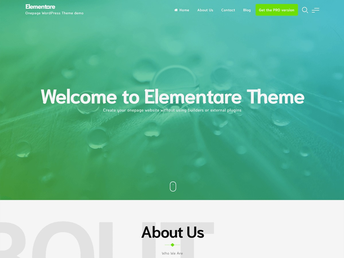Elementare WordPress store theme