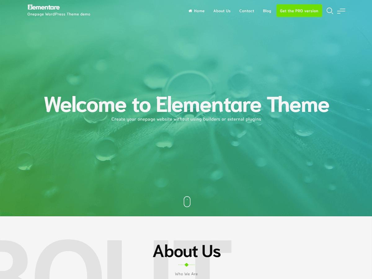 Elementare WordPress store theme