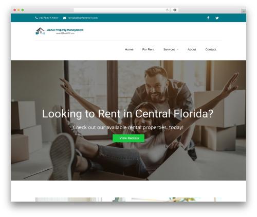 Findeo best WordPress template - rent407.com