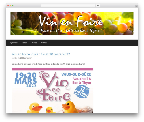 GeneratePress template WordPress free - vinenfoire.com