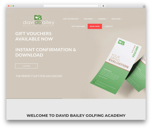 N7 Golf Club WordPress page template - dbgolfacademy.co.uk