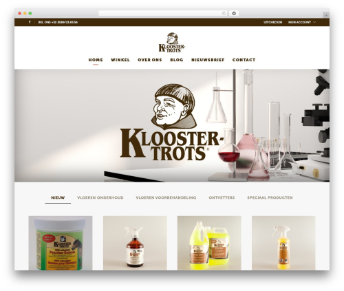 UX Shop theme WordPress - kloostertrots.be