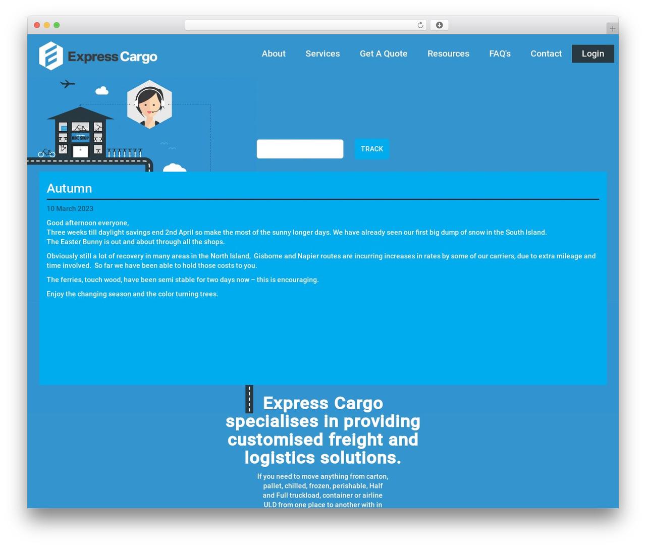 WordPress theme Express Cargo - expresscargo.co.nz