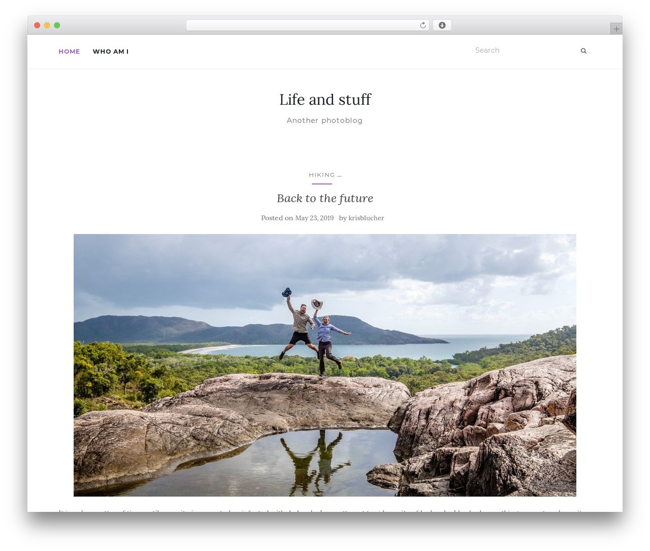 Activello free WordPress theme - krisblucher.com