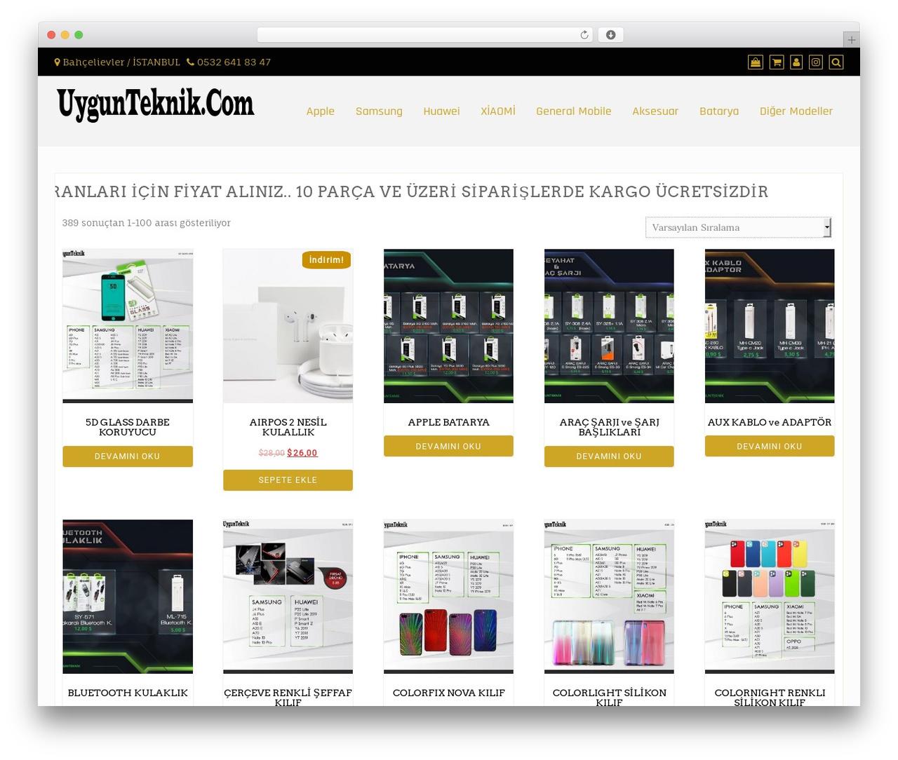 Di Responsive WordPress theme - uygunteknik.com