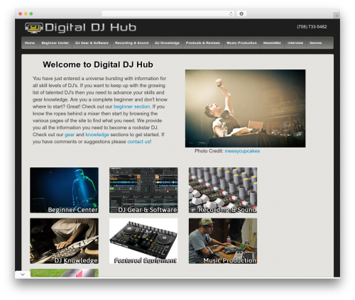 DJ theme WordPress - digitaldjhub.com