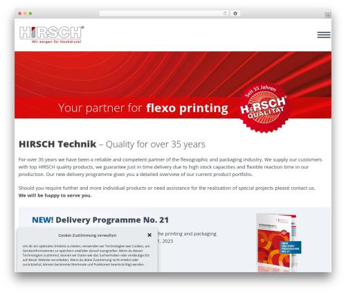 Scalia premium WordPress theme - hirsch-technik.de