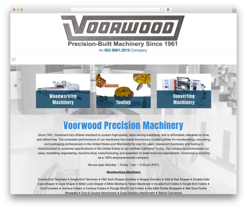 WP theme Betheme - voorwood.com