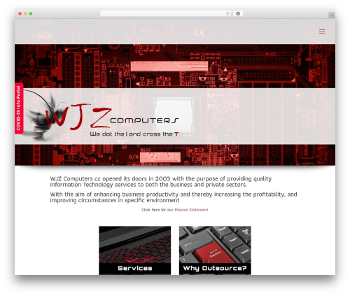 Betheme business WordPress theme - wjz.co.za