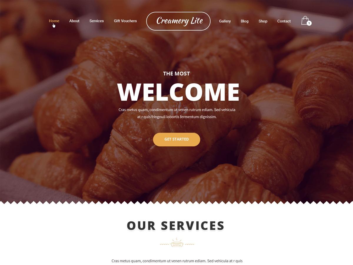 Creamery Lite company WordPress theme