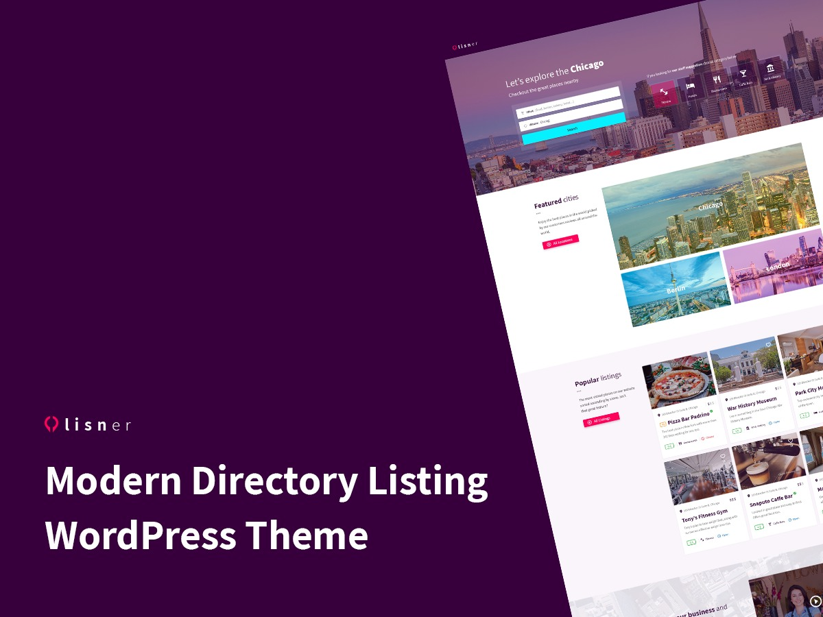 Lisner premium WordPress theme