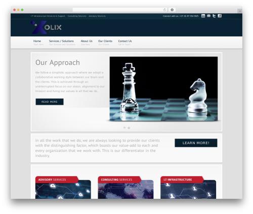 Modular premium WordPress theme - olixonline.com