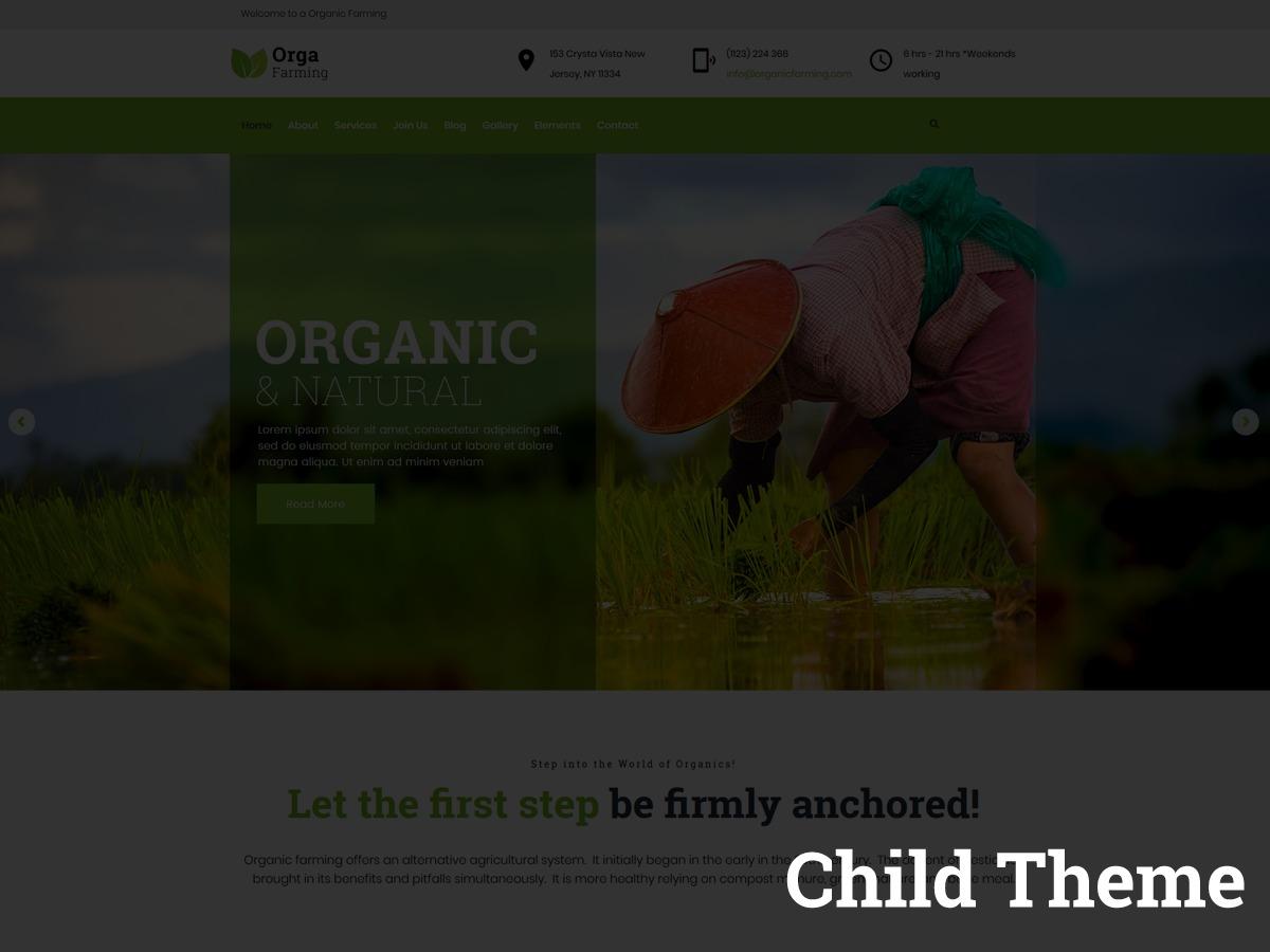 Orga Child WordPress theme