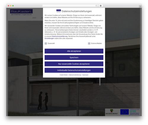 Theme WordPress Domik - baukasten-architekten.de