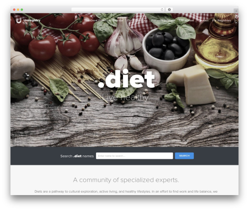 Theme WordPress Uniregistry - nic.diet