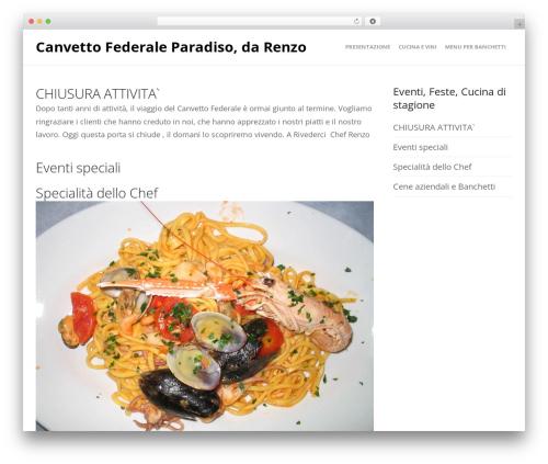 WordPress theme Create - ristorantecanvettofederale.ch