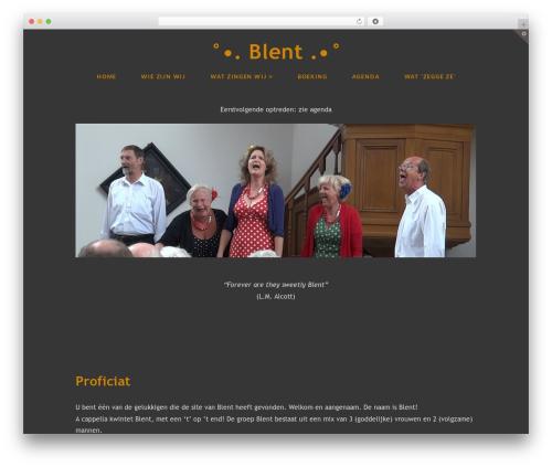 WordPress theme X - blent.nl