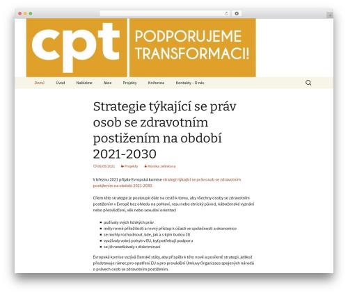 WP template Twenty Thirteen - podporatransformace.cz