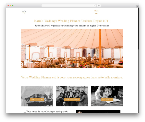 Betheme best wedding WordPress theme - marie-wedding-planner.fr