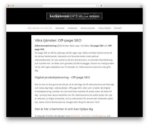 Bezel WordPress blog template - kackalorum.se