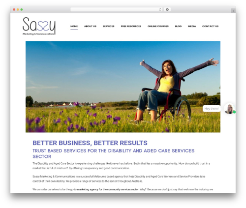 Bridge best WordPress theme - sassy.marketing