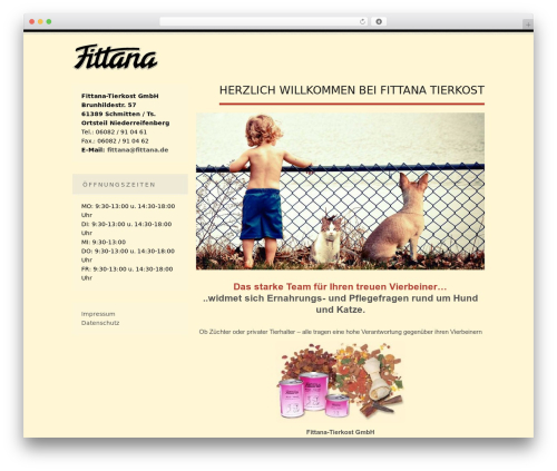 Tesla free WP theme - fittana.de
