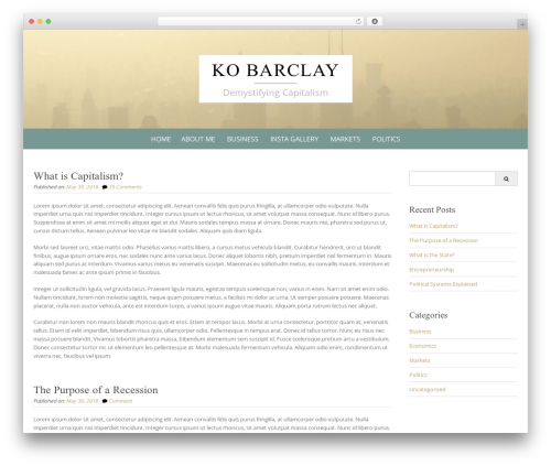 WordPress theme Pure Simple Pro - kobarclay.com
