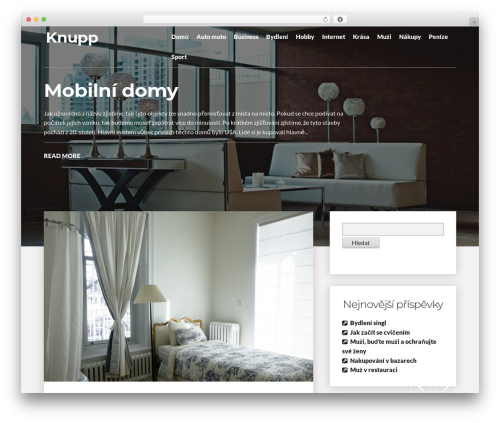 Writer Blog WordPress theme - knupp.cz